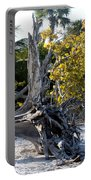 Driftwood On The Beach Portable Battery Charger
