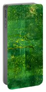 Emerald Heart Portable Battery Charger by Christopher Gaston