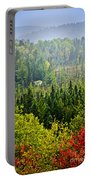 Fall Forest Rain Storm Portable Battery Charger