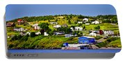 Fishing Village In Newfoundland Portable Battery Charger