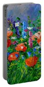 Garden Flowers  Portable Battery Charger