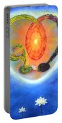 God Lives In My Heart Portable Battery Charger