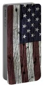 Grungy Textured Usa Flag Portable Battery Charger