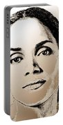 Halle Berry In 2008 Portable Battery Charger by J McCombie