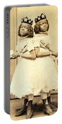 2 Headed Girl Millie-chrissie Portable Battery Charger by Photo Researchers
