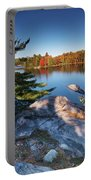 Lake George At Killarney Provincial Park In Fall Portable Battery Charger