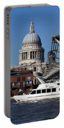 Millenium Bridge And St Pauls Cathedral Portable Battery Charger