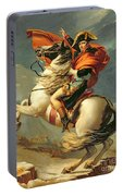 Napoleon Crossing The Alps On 20th May 1800 Portable Battery Charger