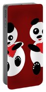 2 Pandas In Love Portable Battery Charger
