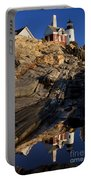 Pemaquid Point Lighthouse Portable Battery Charger by Brian Jannsen