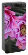 Pink Cactus Flower Portable Battery Charger