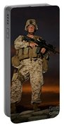 Portrait Of A U.s. Marine In Uniform Portable Battery Charger