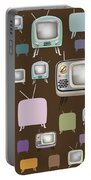retro TV pattern  Portable Battery Charger by Setsiri Silapasuwanchai