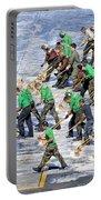 Sailors Perform A Flight Deck Wash Portable Battery Charger