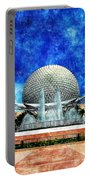 Spaceship Earth And Fountain Of Nations Portable Battery Charger