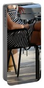 Stripped Dress Portable Battery Charger