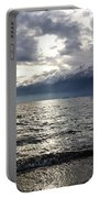 Sunlight Over A Lake Portable Battery Charger