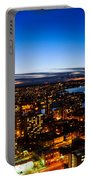 Sunset Over A City Nice Illuminated Portable Battery Charger