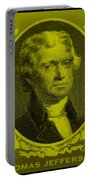Thomas Jefferson In Yellow Portable Battery Charger