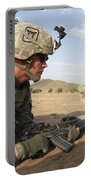 U.s Army Specialist Provides Security Portable Battery Charger