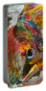 African Bead Painting  Portable Battery Charger