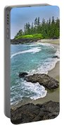 Coast Of Pacific Ocean In Canada Portable Battery Charger
