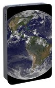Full Earth Showing North America Portable Battery Charger