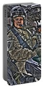 Hdr Image Of A Pilot Sitting Portable Battery Charger
