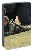Infantry Soldiers Of The Belgian Army Portable Battery Charger