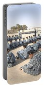 Iraqi Police Cadets Being Trained Portable Battery Charger by Andrew Chittock