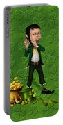 Leprechaun Painting Portable Battery Charger