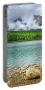 Mountain Lake In Jasper National Park Portable Battery Charger
