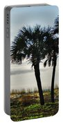 3 Palms On The Beach Portable Battery Charger