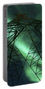 Powerlines And Aurora Borealis Portable Battery Charger