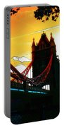 Sunset At Tower Brigde Portable Battery Charger