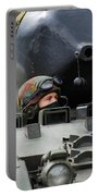Tank Driver Of A Leopard 1a5 Mbt Portable Battery Charger by Luc De Jaeger