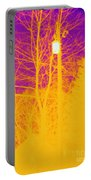 Thermogram Of Electrical Wires Portable Battery Charger by Ted Kinsman