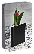 Tulip In A Book Portable Battery Charger