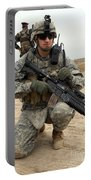 U.s. Army Sergeant Provides Security Portable Battery Charger