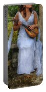 Young Woman As A Classical Woman Of Ancient Egypt Rome Or Greece Portable Battery Charger