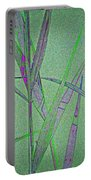 Water Reed Digital Art Portable Battery Charger