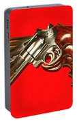 357 Magnum - Painterly - Red Portable Battery Charger