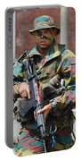 A Paratrooper Of The Belgian Army Portable Battery Charger