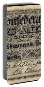 Confederate Banknote Portable Battery Charger