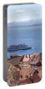 Lake Constance Meersburg Portable Battery Charger by Joana Kruse