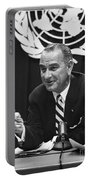 Lyndon Baines Johnson Portable Battery Charger