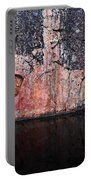Painted Rocks At Hossa With Stone Age Paintings Portable Battery Charger