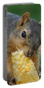 Squirrel Eating Sweet Corn Portable Battery Charger
