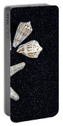 Starfish On Black Sand Portable Battery Charger by Joana Kruse