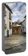 Street In Historic Albaycin In Granada Portable Battery Charger